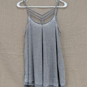 NWT Express One Eleven Light Gray Tank Top